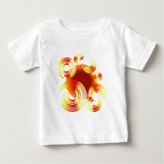 Abstract-Red-Circle-(Black) Baby T-Shirt