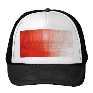 Abstract Red Construct: Cap