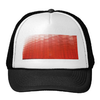 Abstract Red Construct: Hat