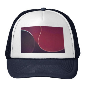 Abstract Red curves Mesh Hats