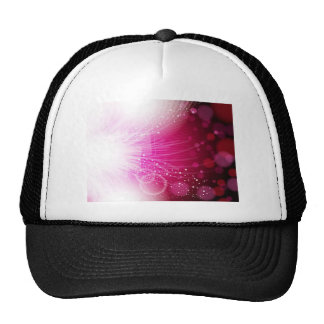 Abstract red design trucker hat