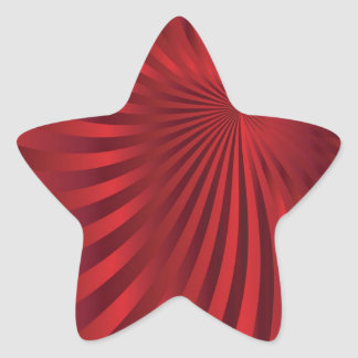 Abstract red design jpg star stickers