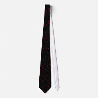 Abstract red dots tie