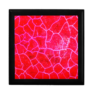 Abstract Red Dragon Vein Agate Pattern Skin Box