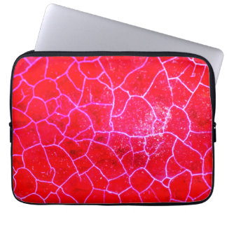 Abstract Red Dragon Vein Agate Pattern Skin Sleeve Laptop Computer Sleeve