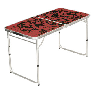 Abstract Red Dragons Pong Table