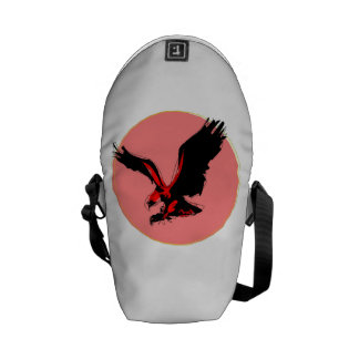 Abstract Red Eagle Courier Bags