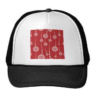 Abstract Red Flowers - Customize Template Cap