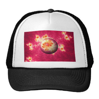 Abstract Red Globe Cap