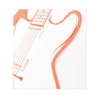 Abstract Red Guitar Background Notepad
