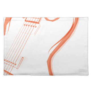 Abstract Red Guitar Background Placemat