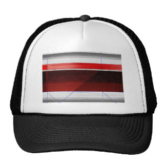 Abstract Red Mesh Hat