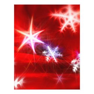 Abstract Red Holiday Snowflake Christmas Design Custom Flyer