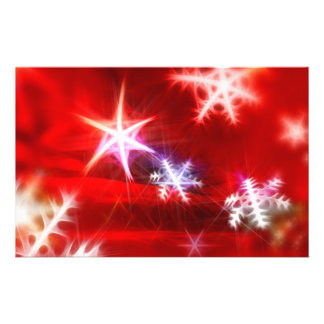 Abstract Red Holiday Snowflake Christmas Design Personalized Flyer