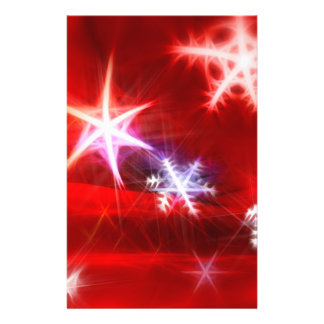 Abstract Red Holiday Snowflake Christmas Design Flyer