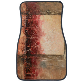 Abstract Red Landscape Car Mat