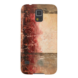 Abstract Red Landscape Galaxy S5 Covers