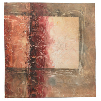 Abstract Red Landscape Napkin