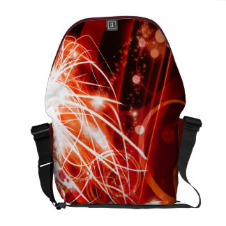 Abstract Red Courier Bags