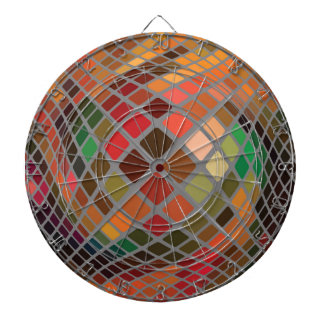 Abstract Red Mosaic Background. Square Pixel Patte Dartboard