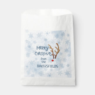 Abstract Red-Nosed Reindeer, Merry Christmas from Favour Bags