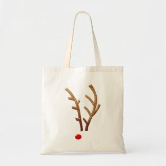 Abstract Red-Nosed Reindeer Tote Bag