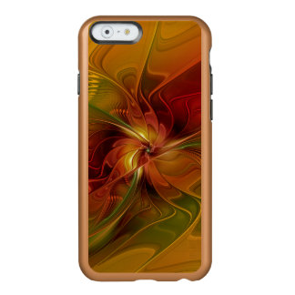 Abstract Red Orange Brown Green Fractal Art Flower Incipio Feather® Shine iPhone 6 Case