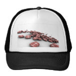 Abstract Red Pattern Design Hats