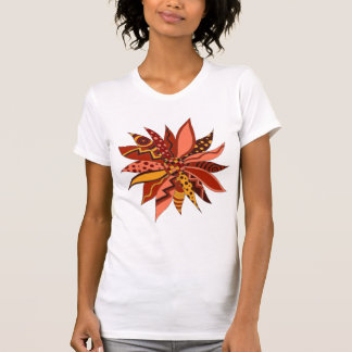Abstract Red Patterned Flower Shirt