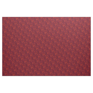 Abstract Red Swirl Pattern Fabric