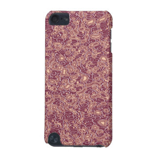 abstract red waves ipod touch case