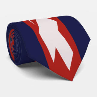 Abstract Red, White & Blue All American Tie