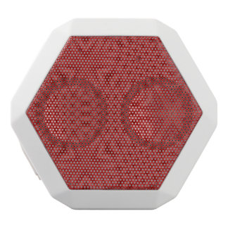 Abstract Red wood pattern White Boombot Rex Bluetooth Speaker