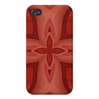 Abstract Red Wood Pattern iPhone 4 Case