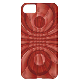 Abstract Red Wood Pattern iPhone 5C Case
