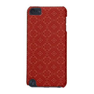 Abstract Red Wood Pattern iPod Touch (5th Generation) Covers