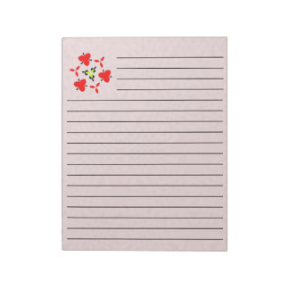 Abstract Red wood pattern Notepad