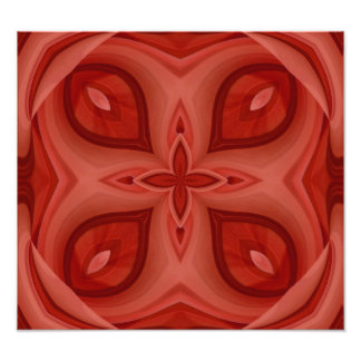 Abstract Red Wood Pattern Art Photo