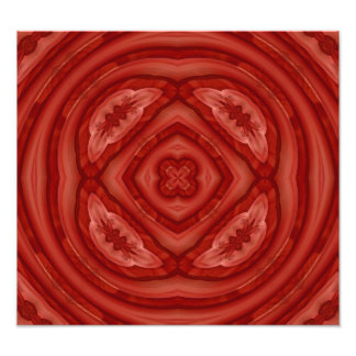 Abstract Red Wood Pattern Photographic Print