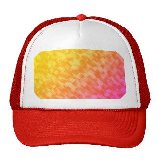 Abstract Red Yellow Geometric Art Mesh Hat