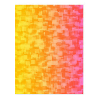 Abstract Red Yellow Geometric Art Postcard