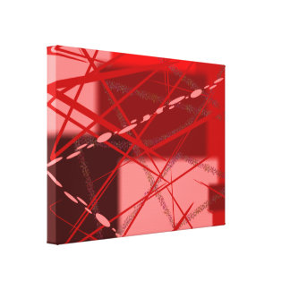 Abstract Reds and Pink Canvas Print