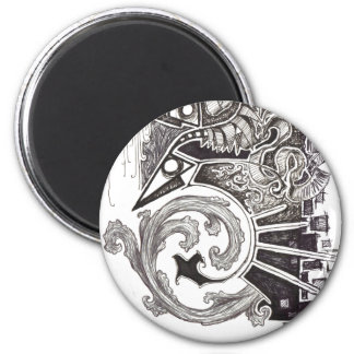 Abstract Reptiles 6 Cm Round Magnet