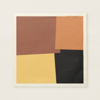 Abstract Retro Color Geometric Pattern #6 Disposable Napkin