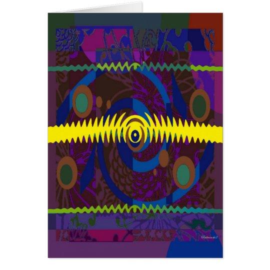 Abstract Retro Design Note Card