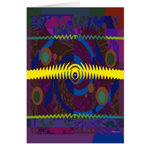 Abstract Retro Design Stationery Note Card
