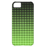 Abstract Retro Green and Black Halftone Background iPhone 5C Case