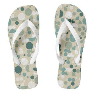 Abstract retro pattern flip flops