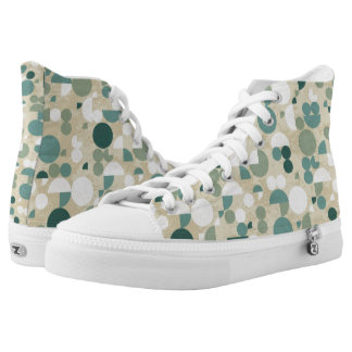 Abstract retro pattern high tops