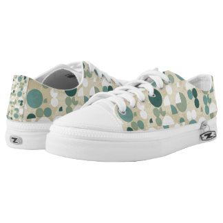 Abstract retro pattern low tops